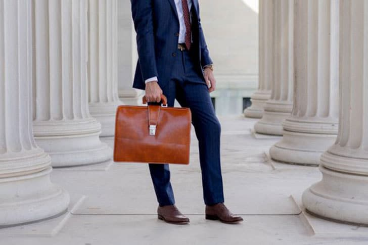 Leather Lawyer Briefcase