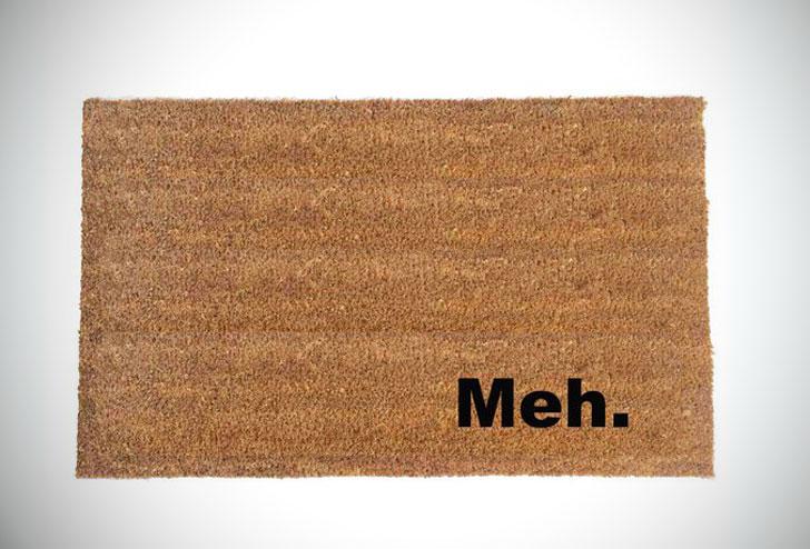 Meh. Funny Doormat