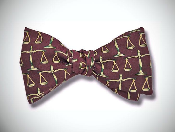 Men's SILK Scales of Justice Bow Tie