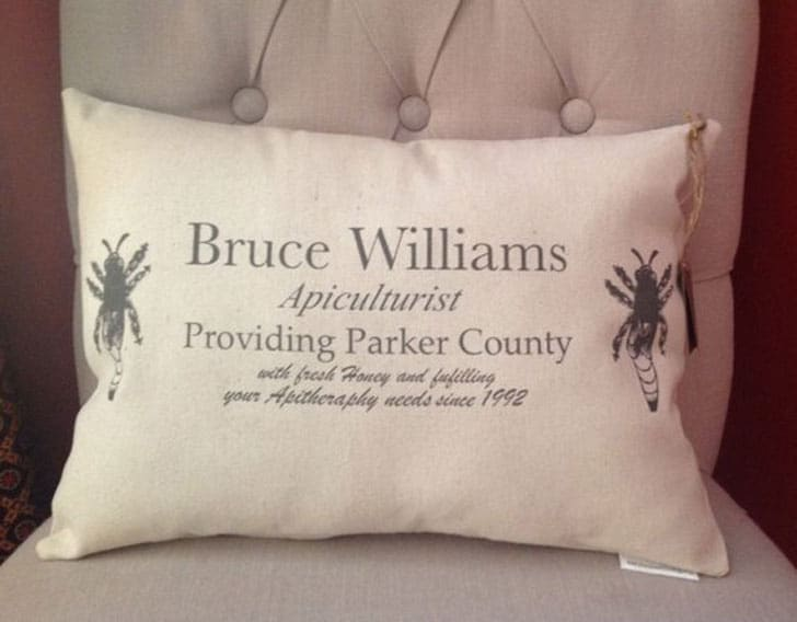 Personalized Beekeeper Pillow