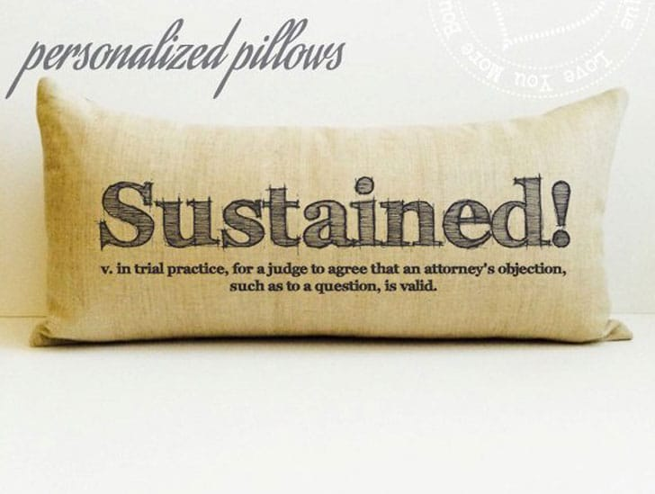 Personalized Lawyer Pillows