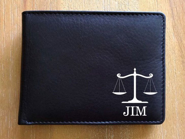 Personalized Leather Attorney Wallet