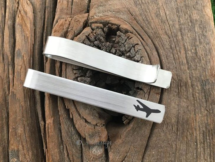 Pilot Gift Airplane Tie Clip