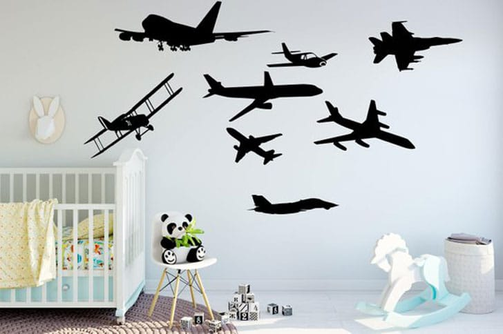 Plane Mix Wall Decal Set