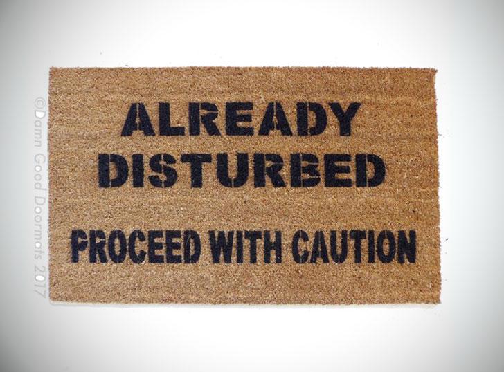 Proceed With Caution Doormat