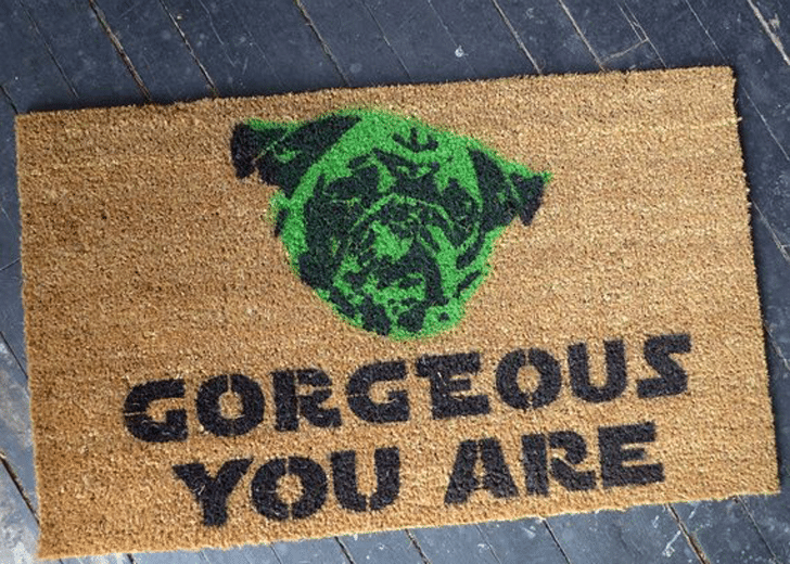 Pug Life Gorgeous You Are Yoda Doormat