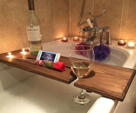 Relaxation Wooden Bathtub Caddy