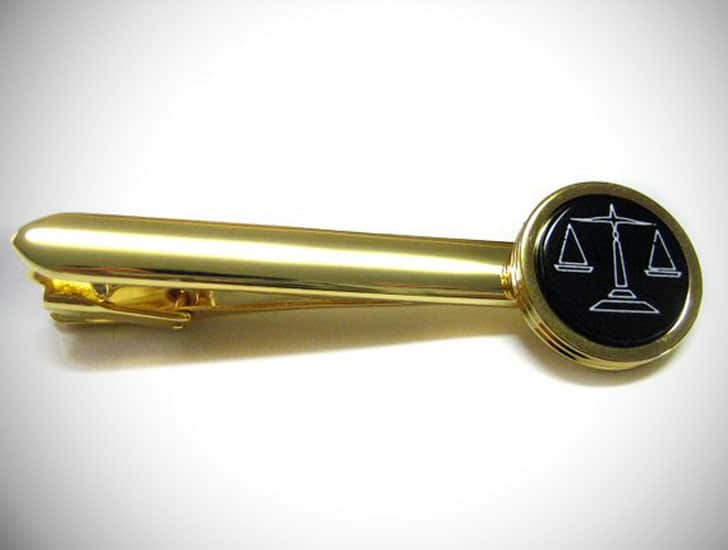 Scale of Justice Law Tie Clips