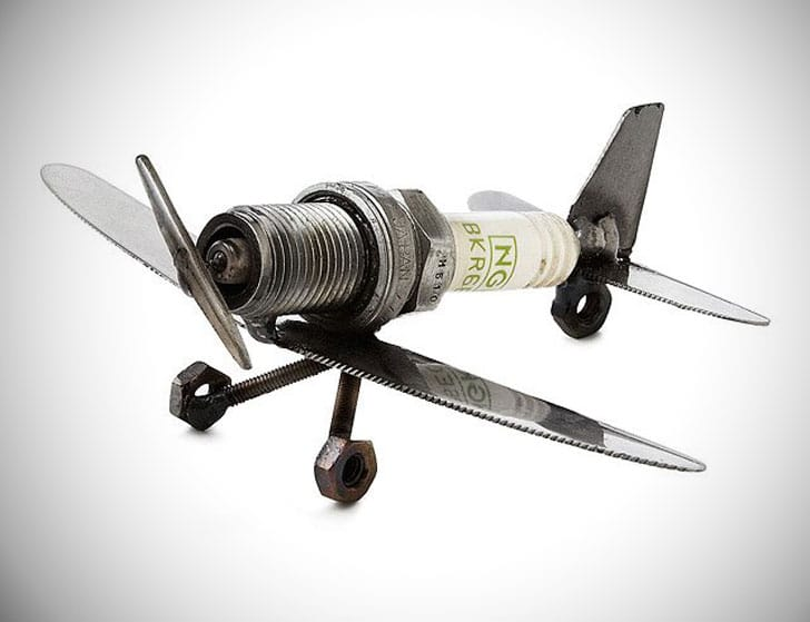 Spark Plug Plane Paperweight