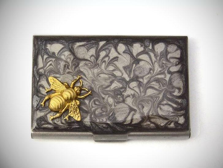 Steampunk Bee Business Card Holder