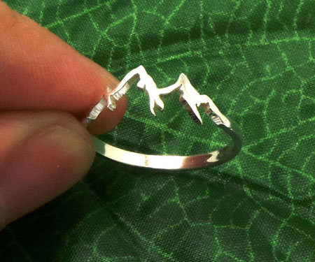 Sterling Silver Mountain Range Ring