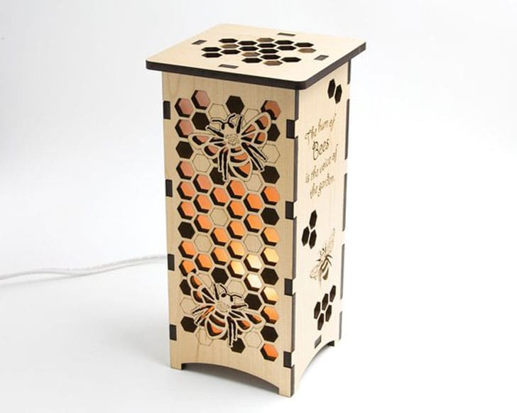 Tall Wood Beekeeper Lantern