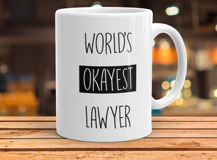 World's Okayest Lawyer Mug - Gifts for Lawyers
