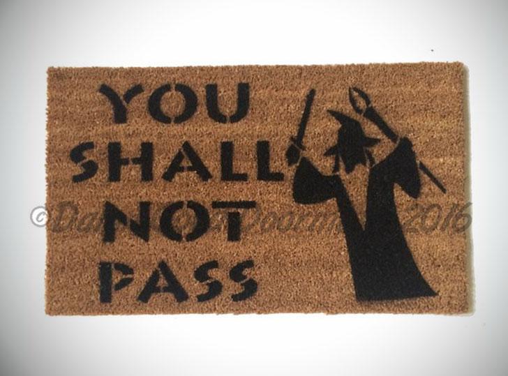 You Shall Not Pass Doormat