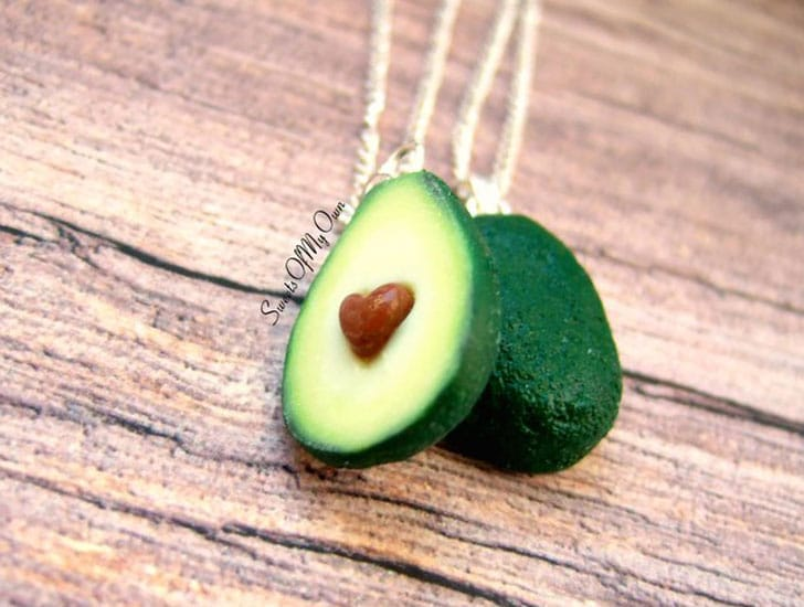 Avocado Heart BFF Necklaces