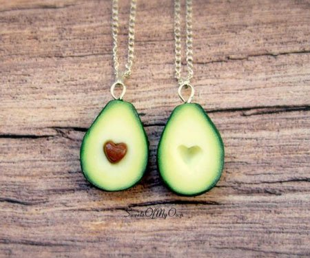 Avocado Heart BFF Necklaces
