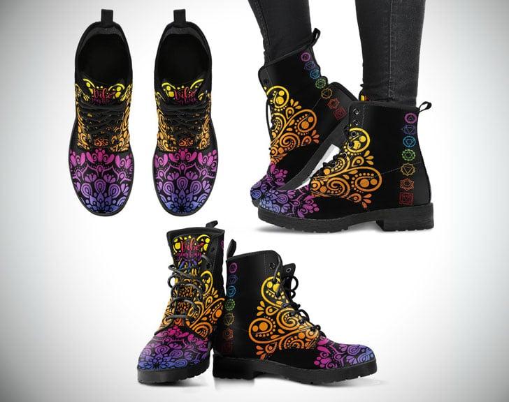 Chakra Mandala Boots - Boho Boots