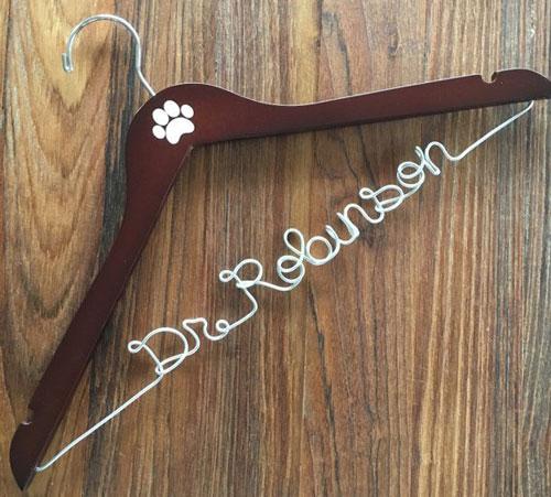 Custom Coat Hanger Veterinarian Gift Graduation Gift