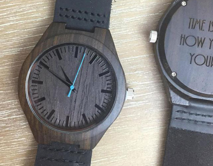 Custom Personalized Message Wooden Watch