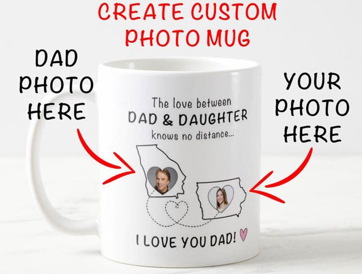Custom Photo To Father From Daughter Mug