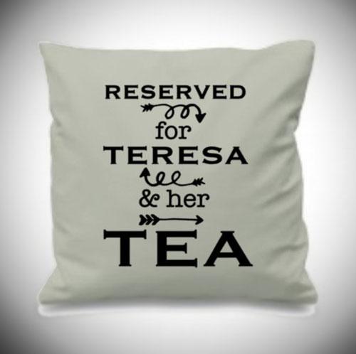 Custom Tea Lover Pillow