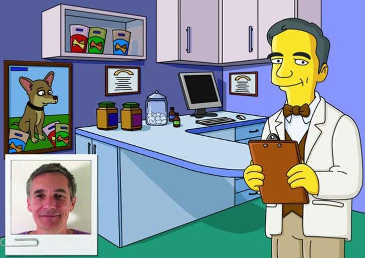 Custom Veterinarian Portrait as Cartoon Character