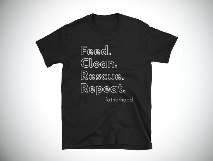 Feed Clean Rescue Repeat T-Shirt