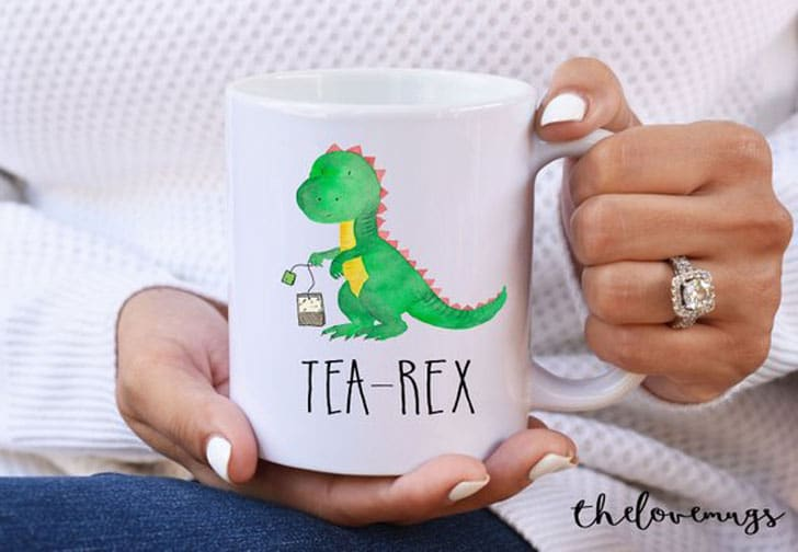 Funny Tea Mug - Tea Rex - Gifts For Tea Lovers