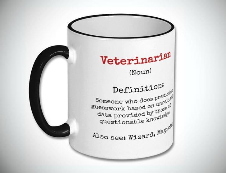 Funny Veterinarian Definition Mug