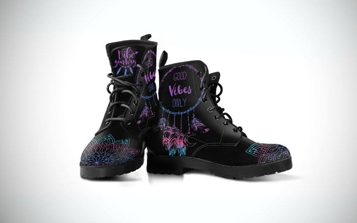 Good Vibes Only Dreamcatcher Boho Boots