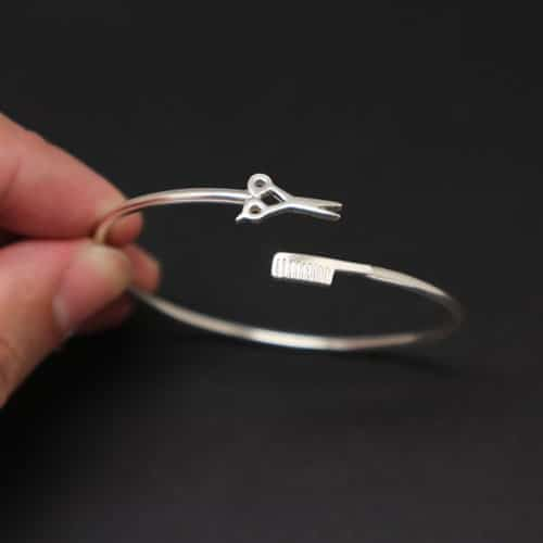 Hair Stylist Scissor and Comb Bracelet