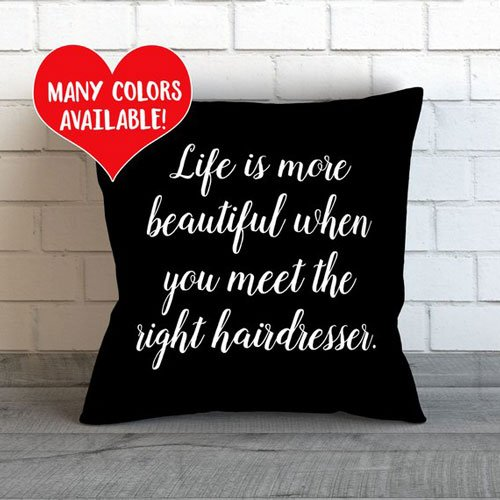 Hairdresser Throw Pillow