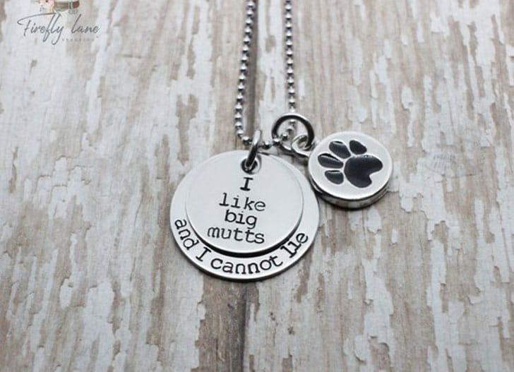 Hand Stamped Dog Lover Necklace