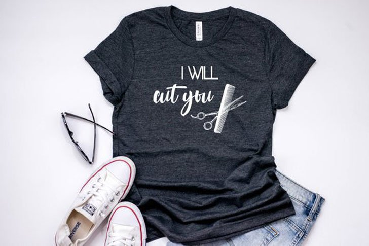 I Will Cut You Funny Hairdressers T-Shirt