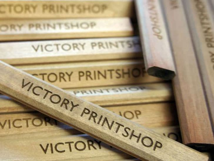 Laser Engraved Personalized Carpenters Pencils