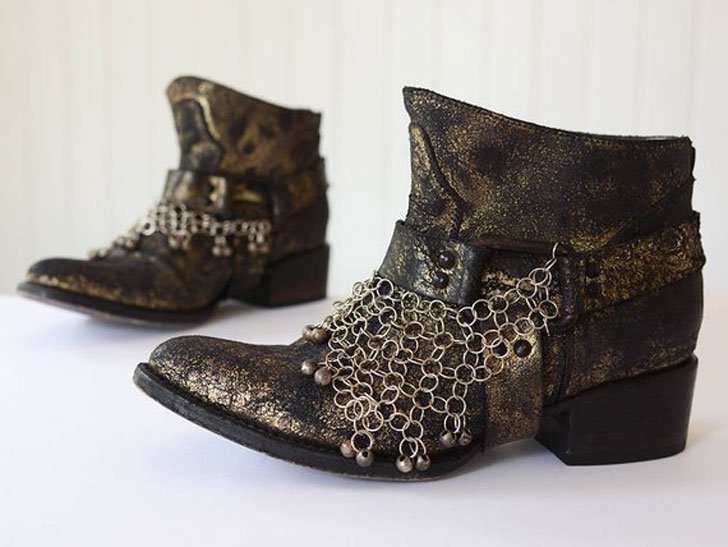 Leather Boho Ankle Boots