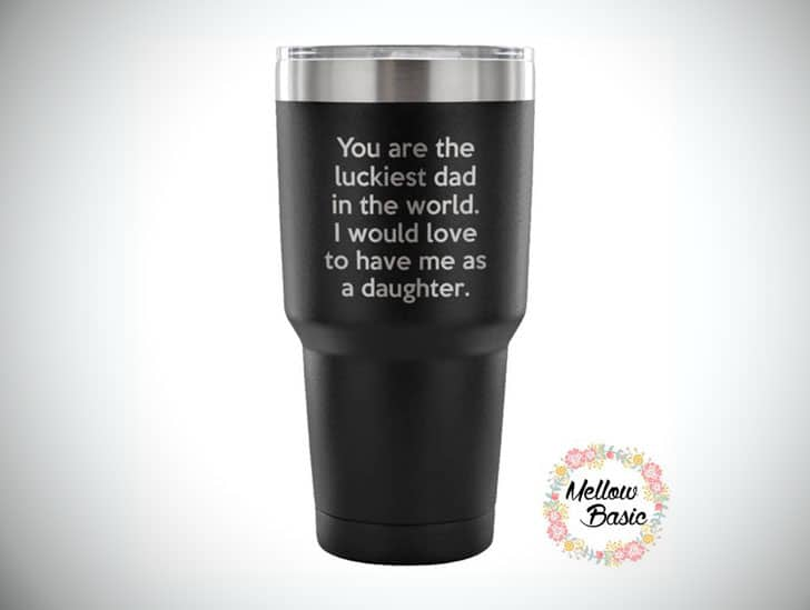 Lucky Dad From Daughter Travel Mug