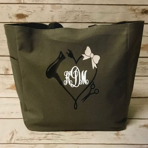 Monogram Hairstylist Tote Purse Bag