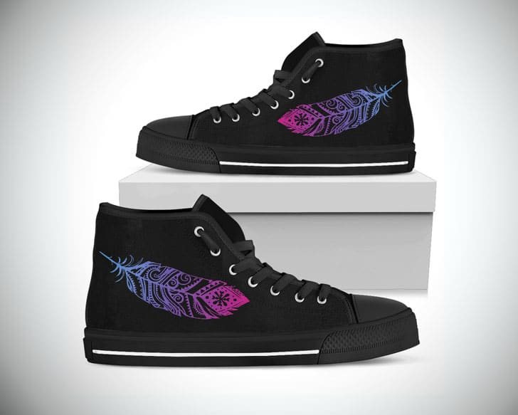 Peace Feathers Hightop Shoes