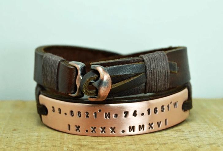 Personalised Fathers Bracelet