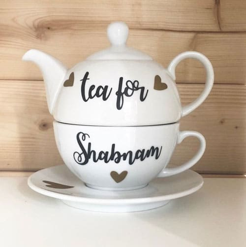 Personalised Tea Cup and Saucer