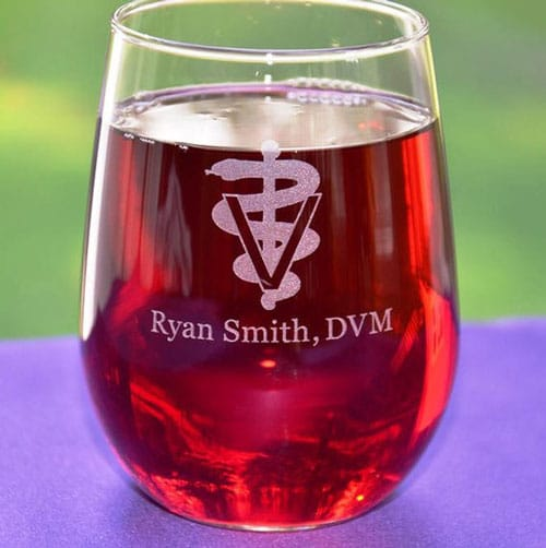 Personalized Custom Engraved Veterinarian Glass