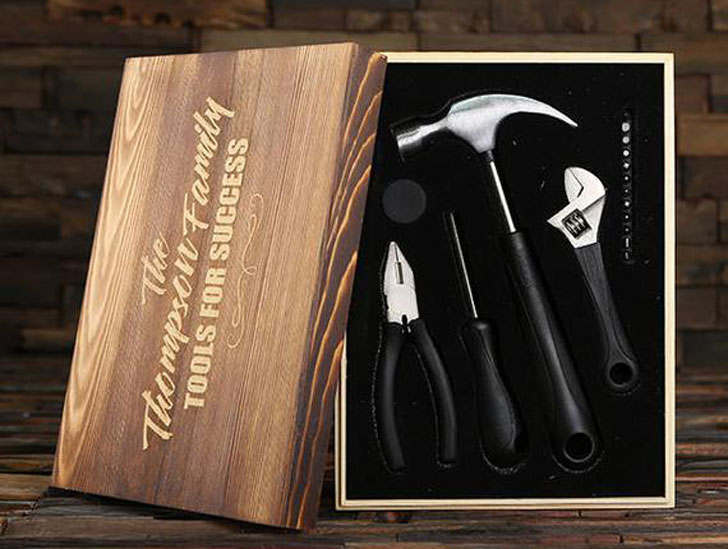 Personalized Monogrammed Tool Set + Gift Box