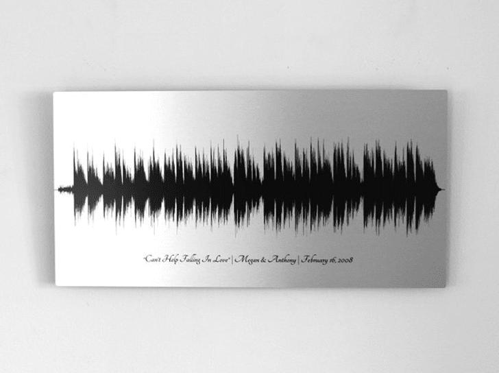 Personalized Voice Message Sound Wave Art
