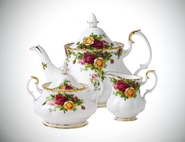Royal Albert Old Country Roses 3 Piece Teapot Set