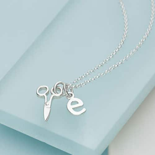 Sterling Silver Scissors Necklace