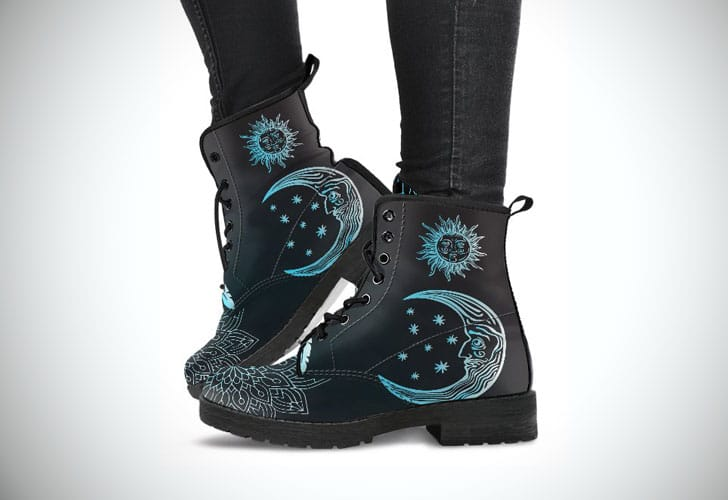 Sun & Moon Mandala Boots
