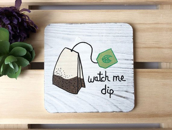 Tea Bag Coaster Set for Tea lovers - Gifts For Tea Lovers