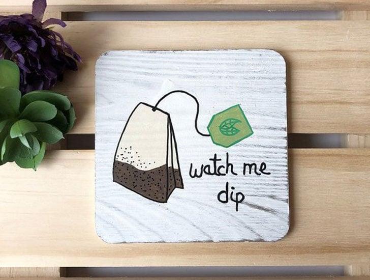 Tea Bag Coaster Set for Tea lovers - Gifts For Tea Lovers