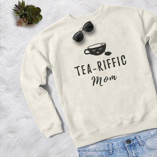 Tea-Riffic Mom Sweater